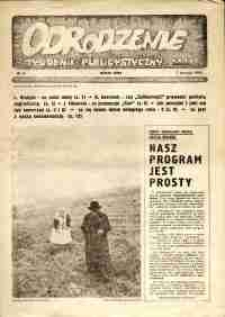 """Odrodzenie : tygodnik publicystyczny NSZZ """"Solidarność"""", 1981, nr 5"""