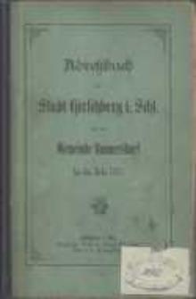 Adressbuch der Stadt Hirschberg in Schlesien für das Jahr 1883 : zusammengestellt nach amtlichen Quellen. 6. Jahrgang