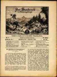 Der Wanderer im Riesengebirge, 1910, nr 9