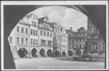 Hirschberg im Riesengebirge. Markt mit Gabeljürgen [Dokument ikonograficzny]