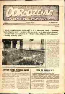 """Odrodzenie : tygodnik publicystyczny NSZZ """"Solidarność"""", 1981, nr 12"""