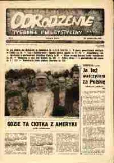 """Odrodzenie : tygodnik publicystyczny NSZZ """"Solidarność"""", 1981, nr 16"""