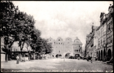 Riesengebirge Hirschberg i. Schl. Markt m. Blick nach Hotel Deutsches Haus. [Dokument ikonograficzny]