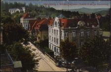 Hirschberg i. Schles., Die Kaiser-Friedrich-Strasse am Kavalierberg [Dokument ikonograficzny]