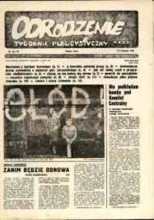 """Odrodzenie : tygodnik publicystyczny NSZZ """"Solidarność"""", 1981, nr 18-19"""