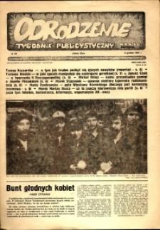 """Odrodzenie : tygodnik publicystyczny NSZZ """"Solidarność"""", 1981, nr 22"""