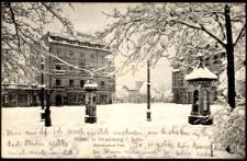 Winter in Hirschberg i. Schl. Warmbrunner Platz [Dokument ikonograficzny]