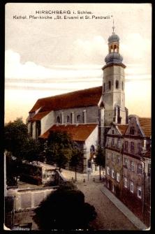 """Hirschberg i. Schles. Kathol. Pfarrkirche """"St. Erasmi et St. Pancratti"""" [Dokument ikonograficzny]"""