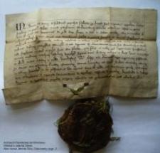 Dokument księcia Henryka Jaworskiego nadający ziemię rycerzowi Friczko koło zamku w Jeleniej Górze
