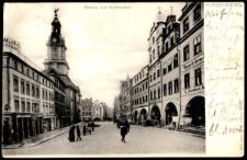 Hirschberg. Rathaus und Marktlauben. [Dokument ikonograficzny]