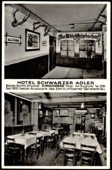 Hotel Schwarzer Adler. Hirschberg i. Rsgb. [Dokument ikonograficzny]