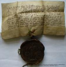 Dokument księcia Henryka Jaworskiego dotyczący nadań lasów dla rycerza Friczko
