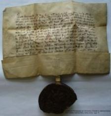 Dokument księcia Henryka Jaworskiego poświadczający, słudze Johannowi Buch i jego synowi Ticzco dochodów z majątku w Jeżowie Sudeckim (Grunowe)