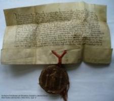 Dokument księcia Bolka nadający przywileje miastu Jelenia Góra