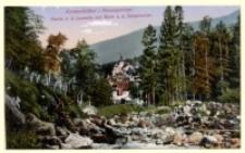 Karpacz - fragment Łomniczki z widokiem na sanatorium [Dokument ikonograficzny]