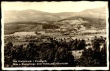 Jelenia Góra - Cieplice - widok na miasto na tle pasma Karkonoszy [Dokument ikonograficzny]