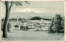 Riesengebirge. Hirschberg mit Schneekoppe [Dokument ikonograficzny]
