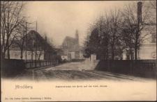 Hirschberg. Zapfenstrasse mit Blick auf die Kath. Kirche [Dokument ikonograficzny]
