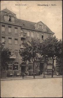 Hirschberg i. Schl. Bahnhofstrasse [Dokument ikonograficzny]