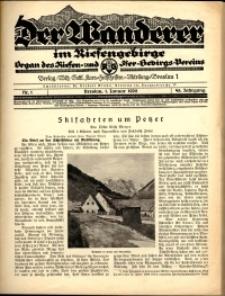 Der Wanderer im Riesengebirge, 1928, nr 1