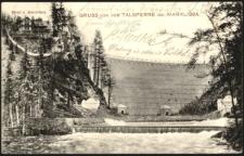 Gruss von der Talsperre bei Marklissa. Hotel u. Wärterhaus [Dokument ikonograficzny]