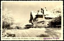 Riesengebirge - Bahnhof Ober-Schreiberhau m. Blick u. d. Hochstein [Dokument ikonograficzny]