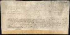 Dokument Karola cesarza rzymskiego i króla Czech zwalniający obywateli wymienionych miast, przybywających do Czech i Pragi od wszelkich ciężarów i ceł