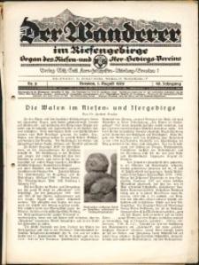 Der Wanderer im Riesengebirge, 1929, nr 8
