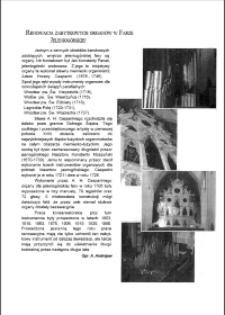 Renowacja zabytkowych organów w Farze Jeleniogórskiej