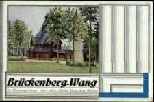 Luftkurort und Wintersportplatz Brückenberg-Wang im Riesengebirge : Seehöhe 700-1260 Meter