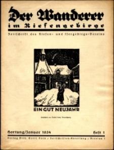 Der Wanderer im Riesengebirge, 1934, nr 1