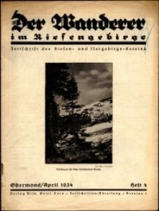 Der Wanderer im Riesengebirge, 1934, nr 4