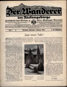 Der Wanderer im Riesengebirge, 1935, nr 1