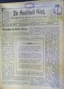 Die Grafschaft Glatz : Zeitschrift des Glatzer Gebirgsvereins, Jr. 3, 1908, nr 1