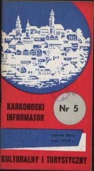 Karkonoski Informator Kulturalny i Turystyczny, 1974, nr 5 (87)