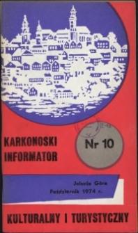 Karkonoski Informator Kulturalny i Turystyczny, 1974, nr 10 (92)