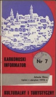 Karkonoski Informator Kulturalny i Turystyczny, 1975, nr 7 (101)