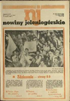 Nowiny Jeleniogórskie : tygodnik PZPR, R. 31, 1988, nr 44 (1559!)