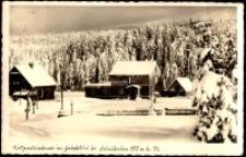 Szklarska Poręba - Jakuszyce - schronisko Katzensteinbaude zimą [Dokument ikonograficzny]