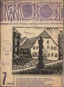 Karkonosze : Informator Kulturalny i Turystyczny Województwa Jeleniogórskiego, 1985, nr 7 (95)