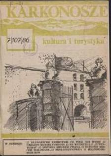 Karkonosze : Kultura i Turystyka, 1986, nr 7 (107)