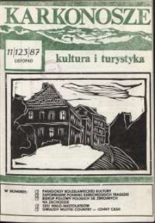 Karkonosze : Kultura i Turystyka, 1987, nr 11 (123)