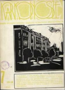 Karkonosze: Informator Kulturalny i Turystyczny Województwa Jeleniogórskiego, 1984, nr 7 (83)