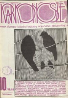 Karkonosze: Informator Kulturalny i Turystyczny Województwa Jeleniogórskiego, 1984, nr 10 (86)
