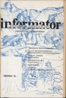 Informator Kulturalny i Turystyczny Województwa Jeleniogórskiego, 1981, nr 8 (54)