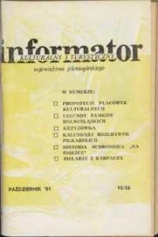 Informator Kulturalny i Turystyczny Województwa Jeleniogórskiego, 1981, nr10 (56)