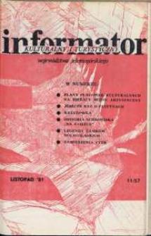 Informator Kulturalny i Turystyczny Województwa Jeleniogórskiego, 1981, nr 11 (57)
