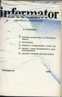 Informator Kulturalny i Turystyczny Województwa Jeleniogórskiego, 1981, nr 12 (58)