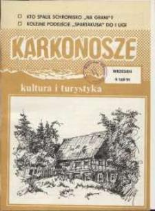 Karkonosze: Kultura i Turystyka, 1991, nr 9 (169)