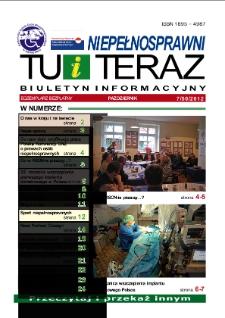 Niepełnosprawni Tu i Teraz : biuletyn informacyjny, 2012, nr 7 (50) [Dokument elektroniczny]